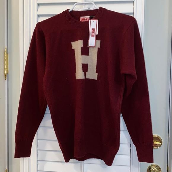 NWT Harvard H sweater